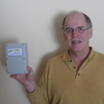 "Inventor Martin Janssen with his""3-Flex"" Tri-Energy heating controll"