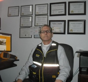 Certified Master Home Inspector Robert Young from Montreal Home Inspection Services in his office