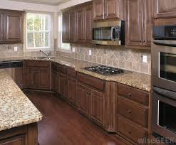 Beautiful dark brown cabinets
