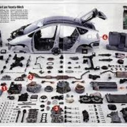 Display of auto parts