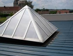 This is a picture of a skylight installed on a roof.